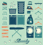 vector-set-laundry-room-labels-icons-collection-silhouettes-house-32425606